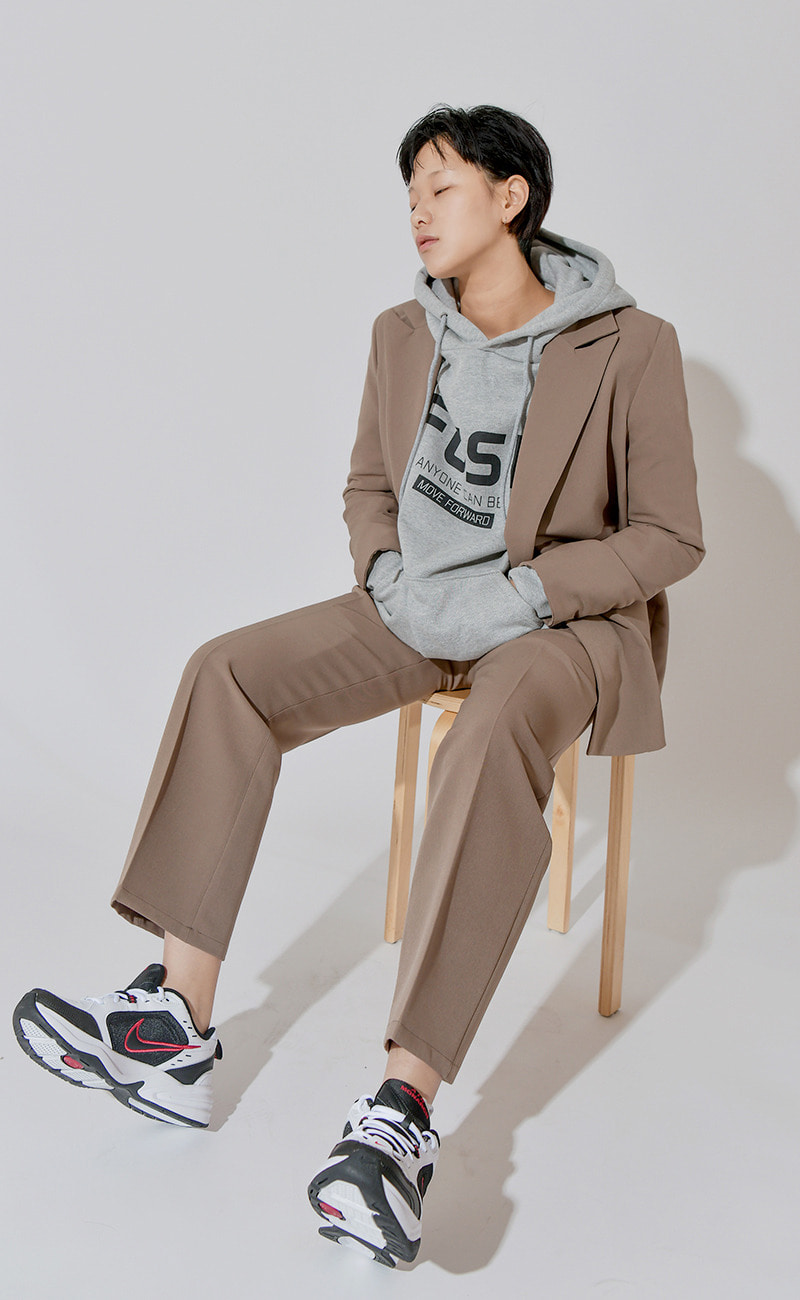 [여남공용] Set-up suit slacks / cocoa