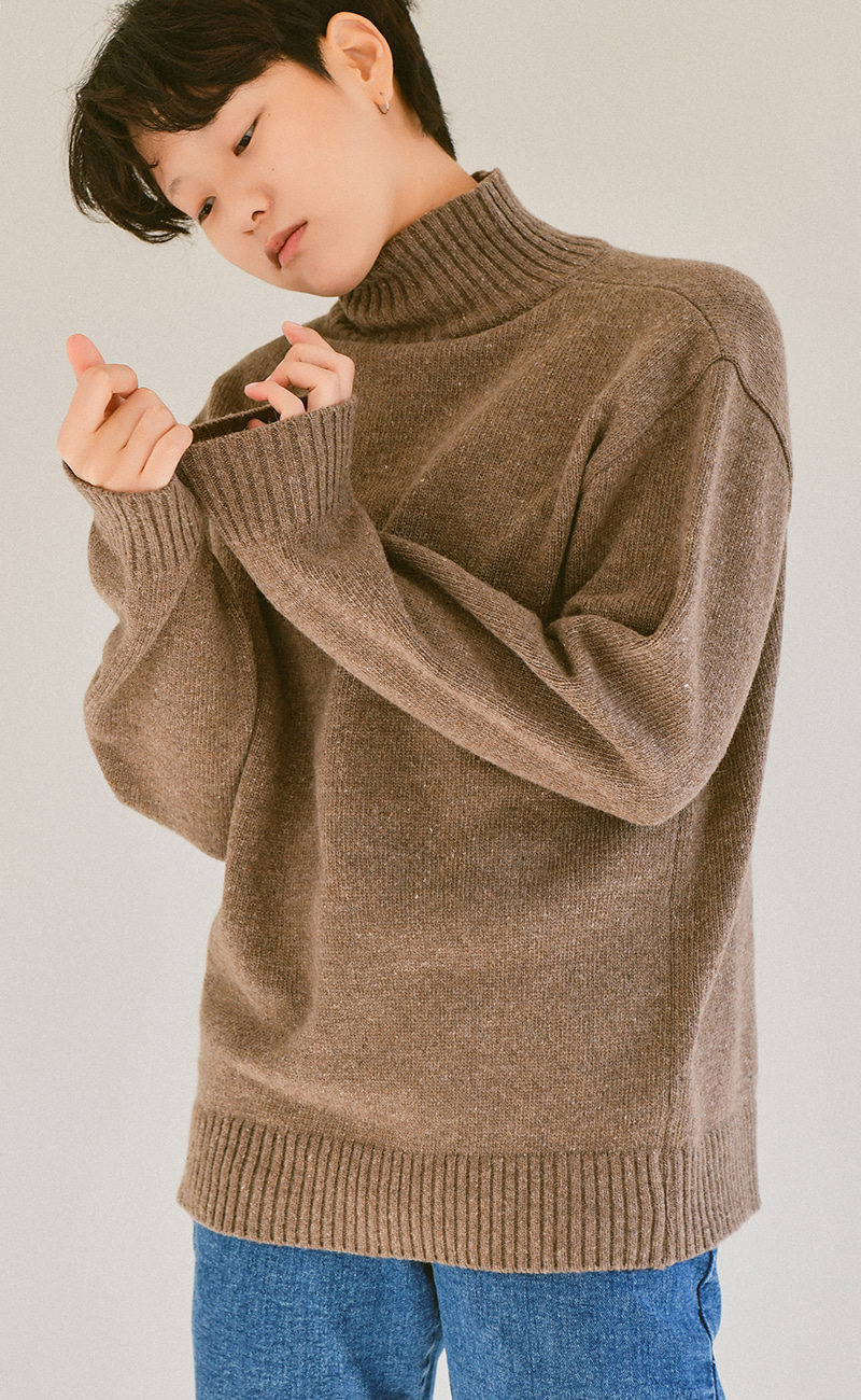 [여남공용] wool80% turtleneck knit