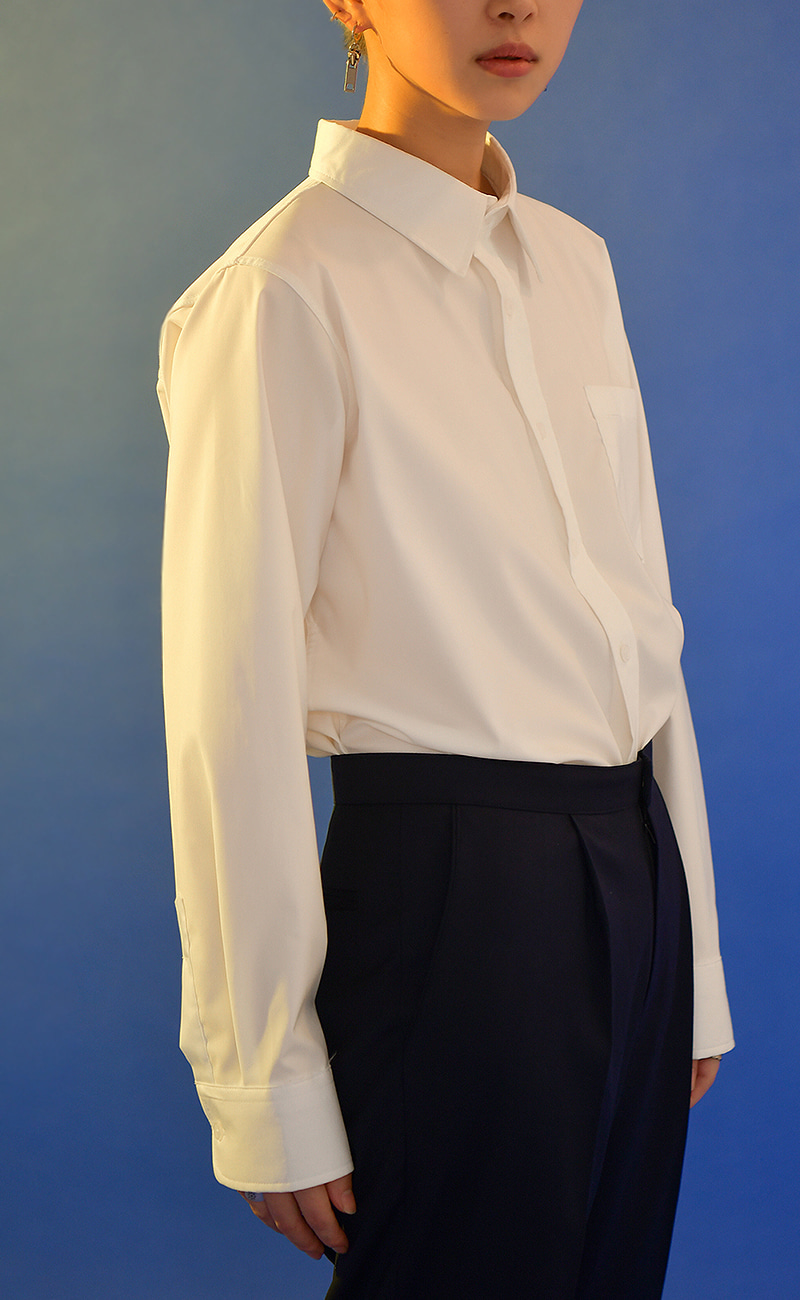 [예약발송] Basic Y-shirt / white