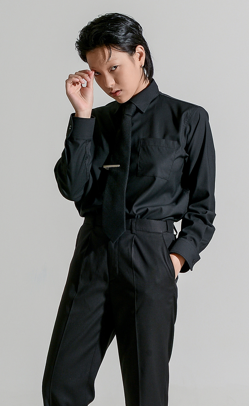 [예약발송] Basic Y-shirt / black