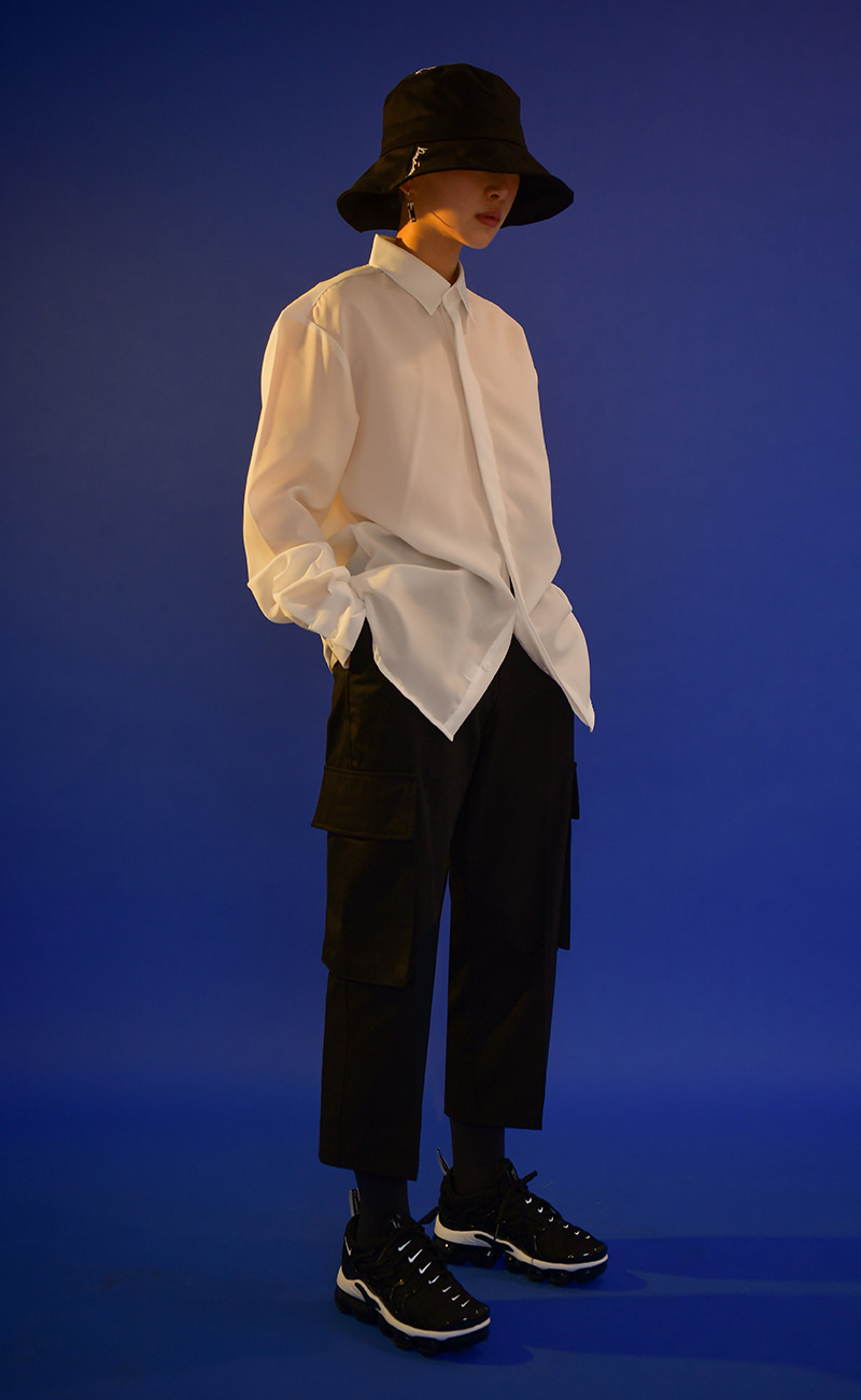 [여남공용] Wide crop pants / Black